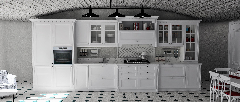 beyaz rustik mutfak